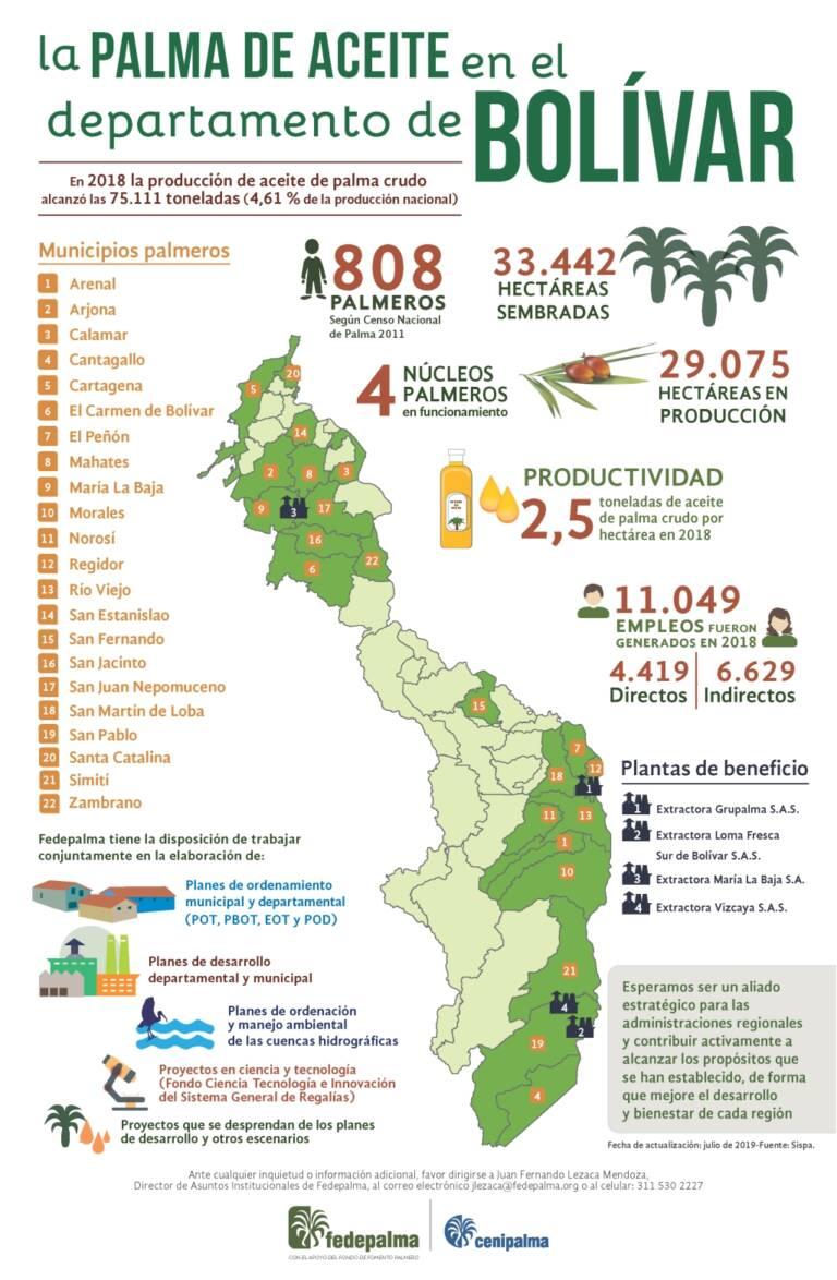 palma mapas Bolivar