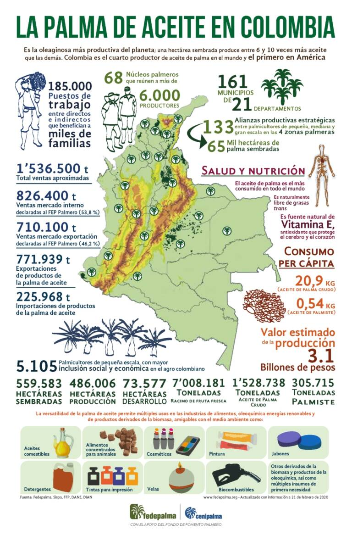 palma mapas Colombia